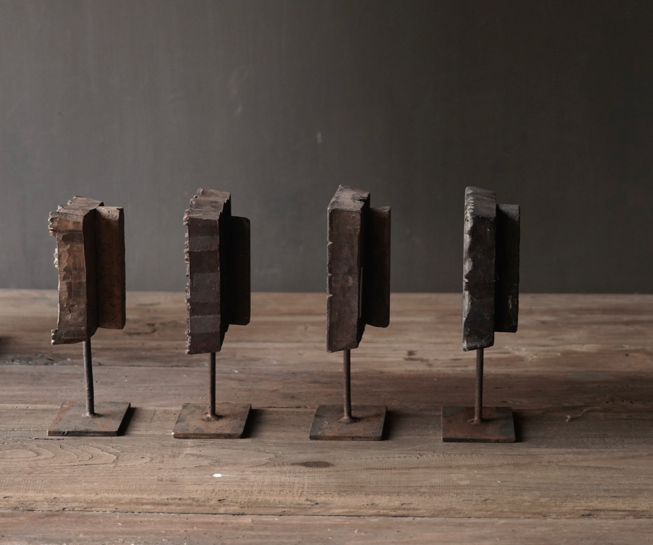 Batikstempel aus Holz auf Eisenbasis-3