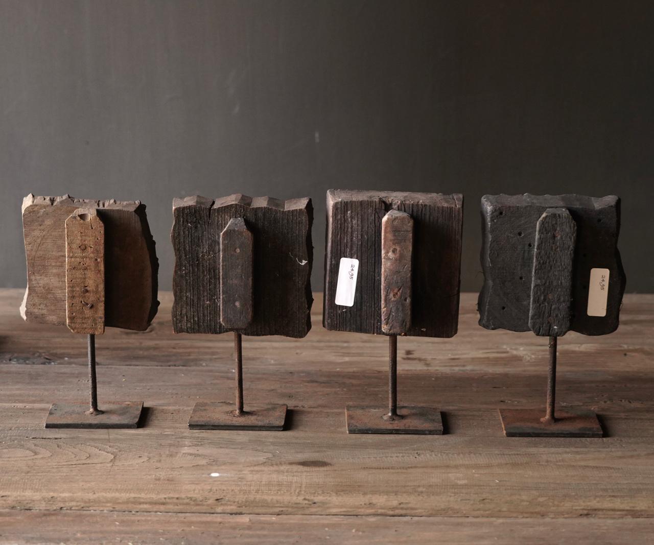Batikstempel aus Holz auf Eisenbasis-4
