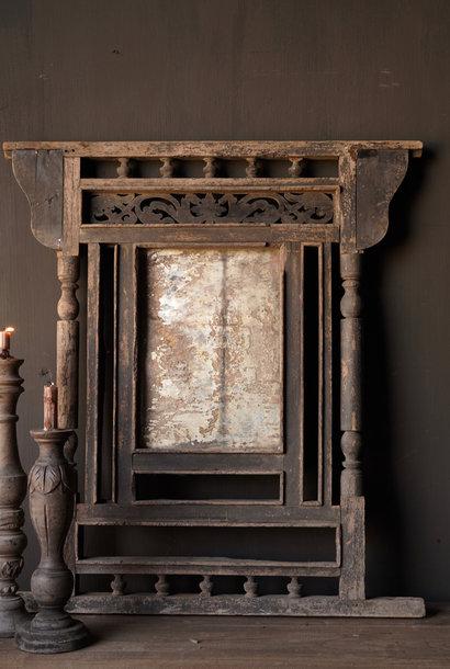 Authentieke originele oude houten spiegel