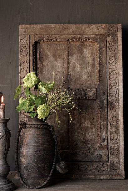 Prachtig Oud Indisch houten luikje