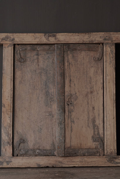 Old Indian wooden hatch