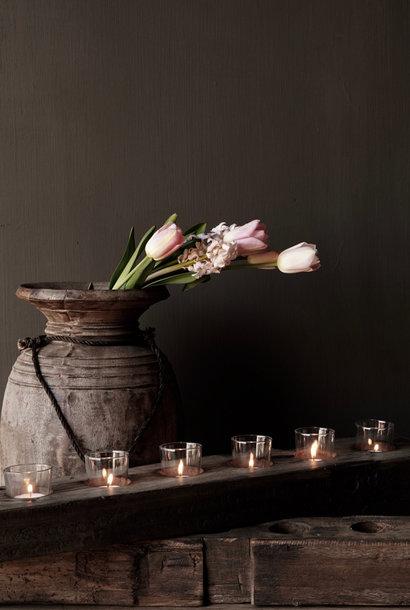 Langer alter Teelichthalter aus Treibholzholz