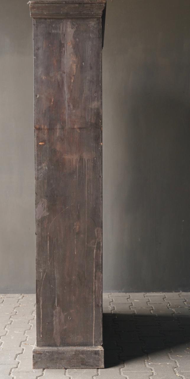 Authentischer alter schöner indischer offener Holzschrank-4