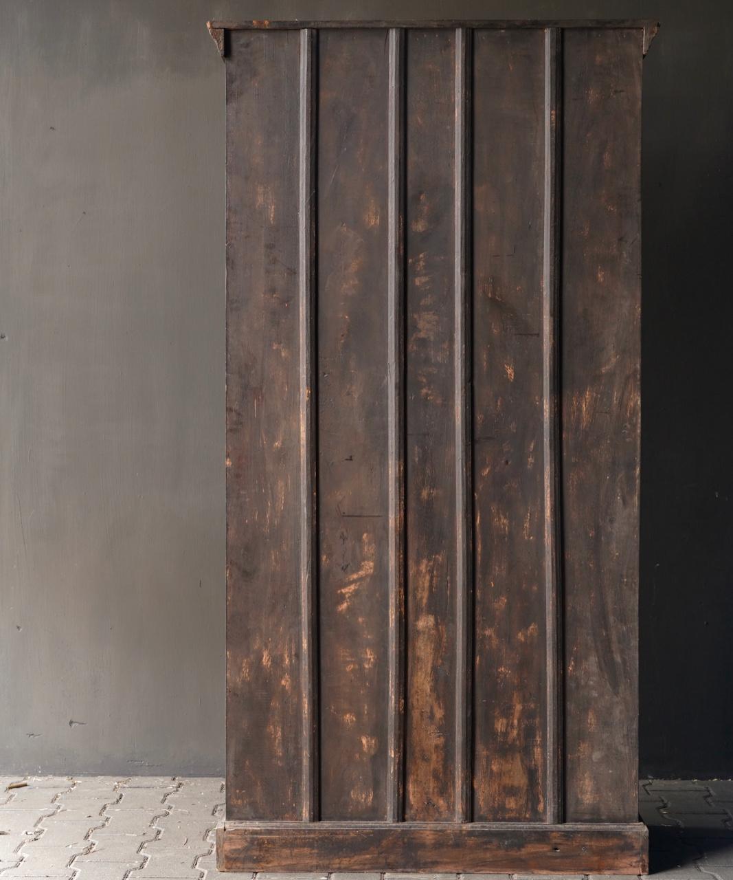 Authentischer alter schöner indischer offener Holzschrank-5
