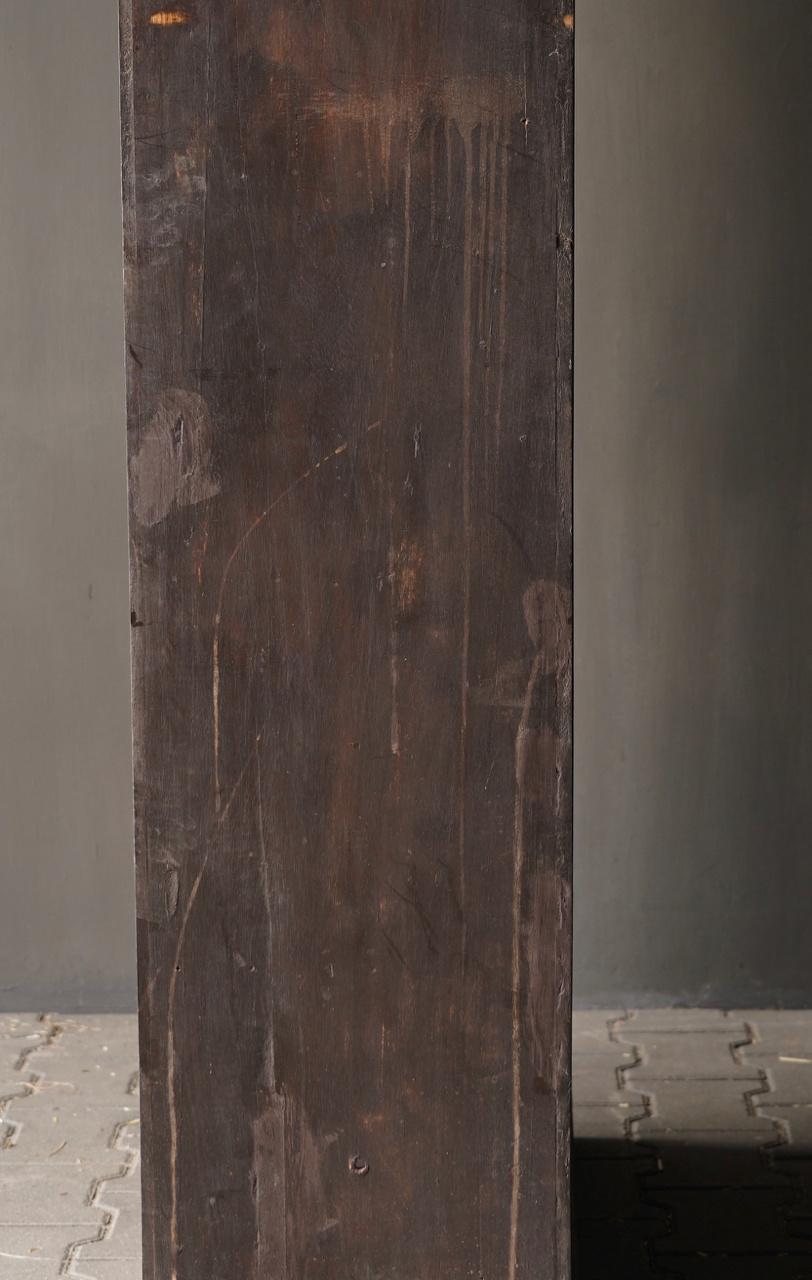 Authentischer alter schöner indischer offener Holzschrank-6