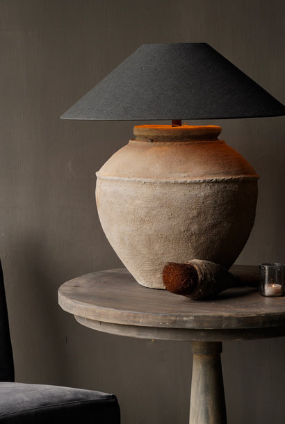 Authentic Indian water jug lamp
