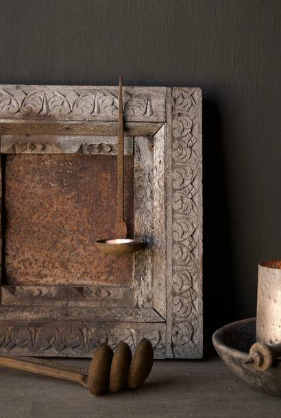 Oude Authentieke Nepalese ijzeren lepel