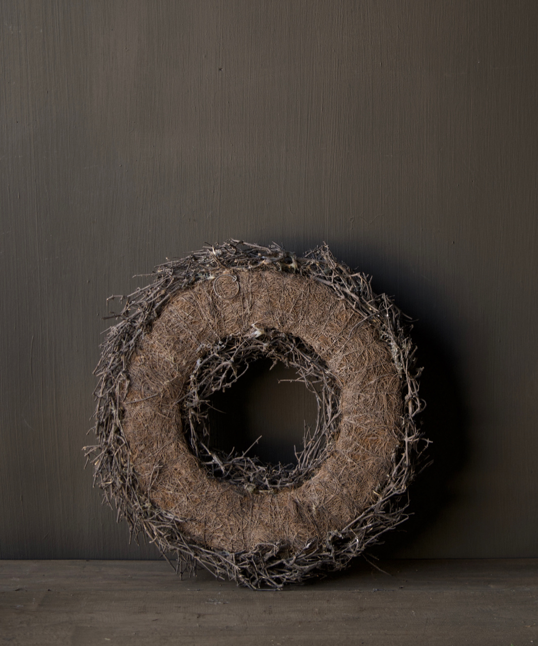 Wreath dry tree ø 38cm - Brown-4