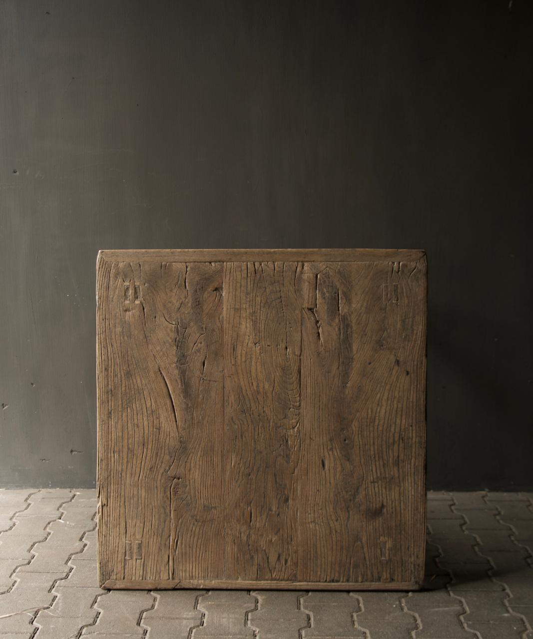 Alter authentischer quadratischer Esstisch-6