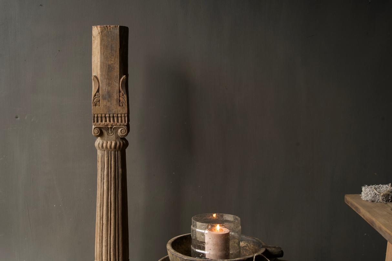 Authentieke Indisch Houten pilaar-3