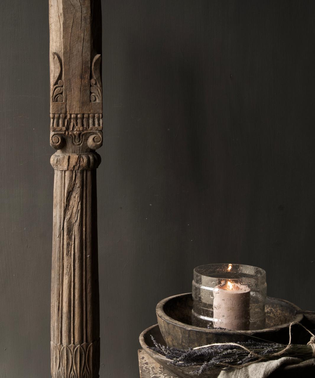 Authentieke Indisch Houten pilaar-7