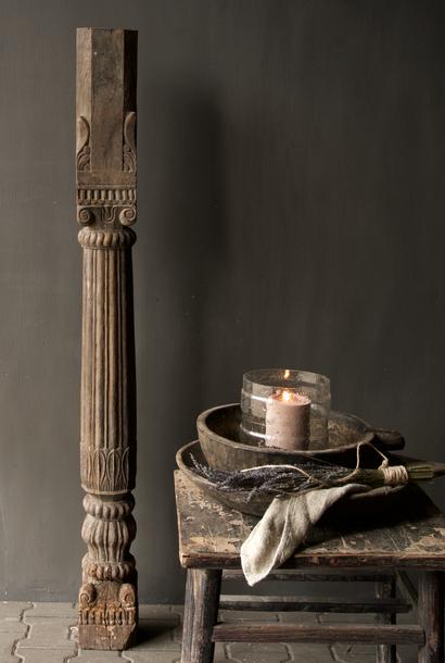 Authentieke Indisch Houten pilaar