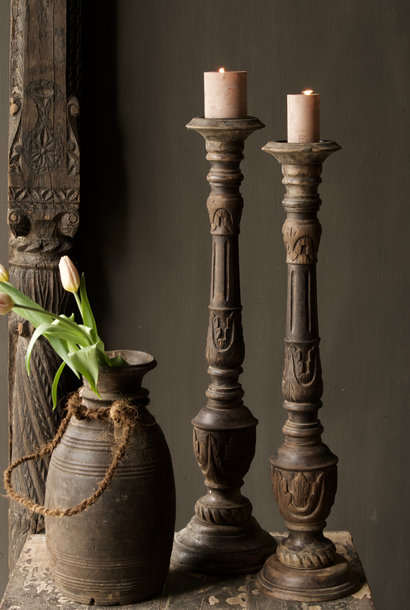 Old authentic candlestick
