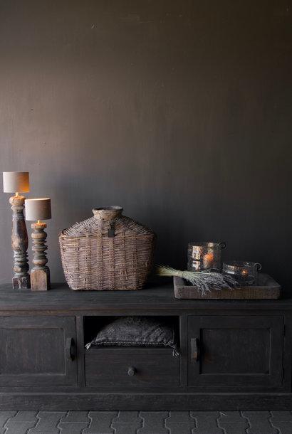 Stoer Tv Meubel / Dressoir van Donker robuust oud  hout