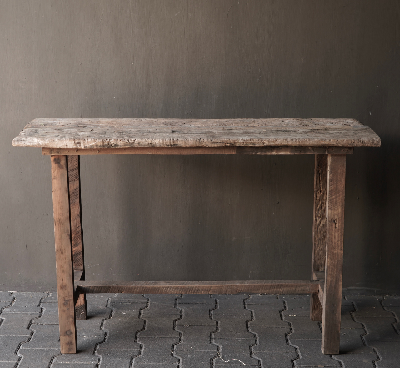 Old wooden side table / wall table. Unique item-3