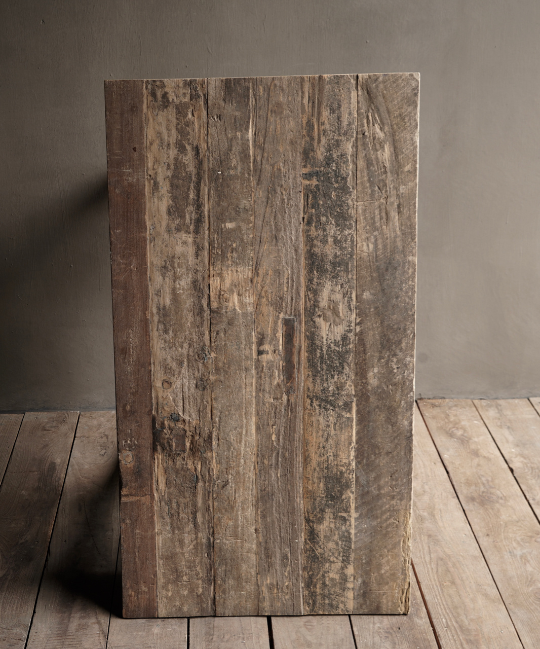 Tough old Sidetable / wall table old wood with a drawer-7