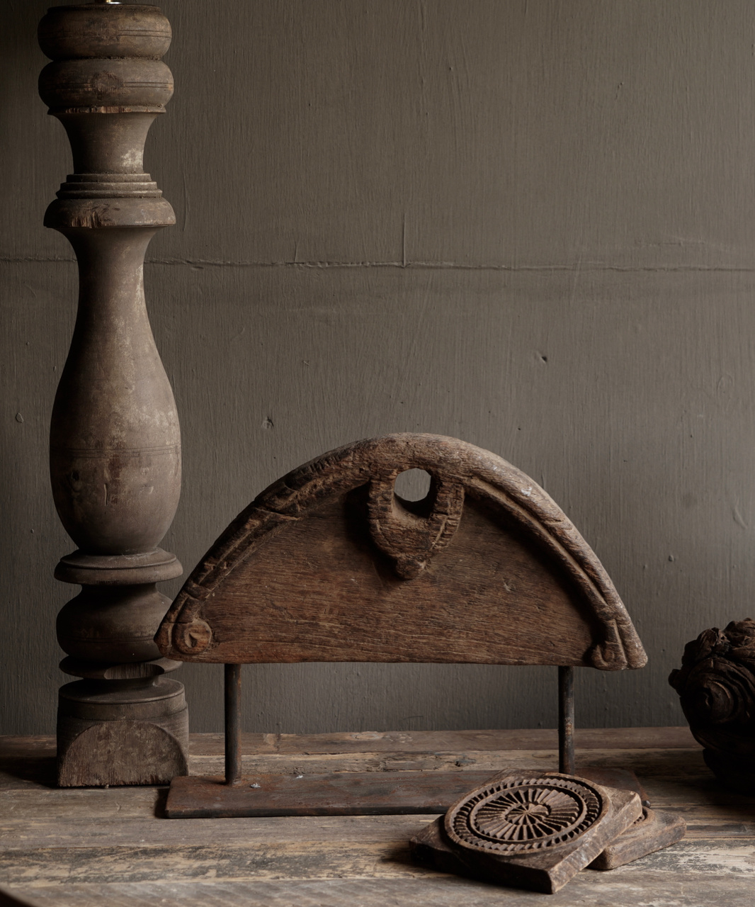 Old Ornament on iron stand-1