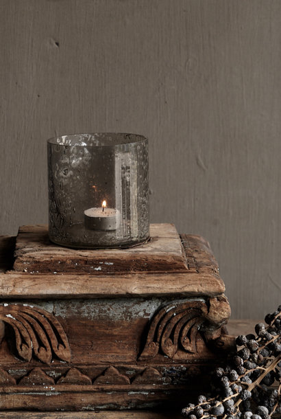 Candlestick made from old pur