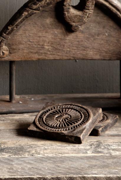 Authentieke Indonesische houten broodstempels/Mandala