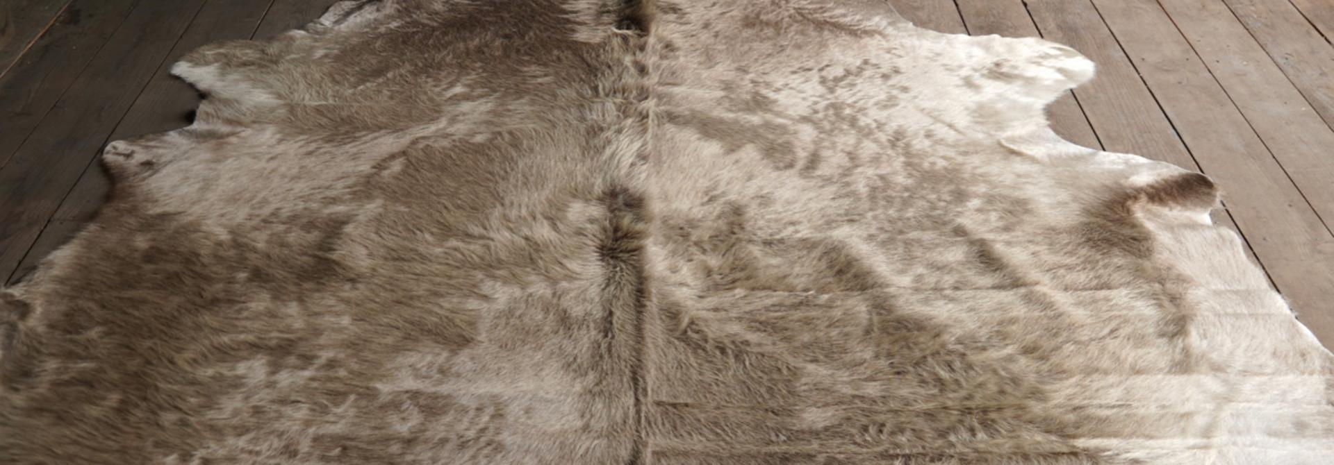cow skin carpet Champagne