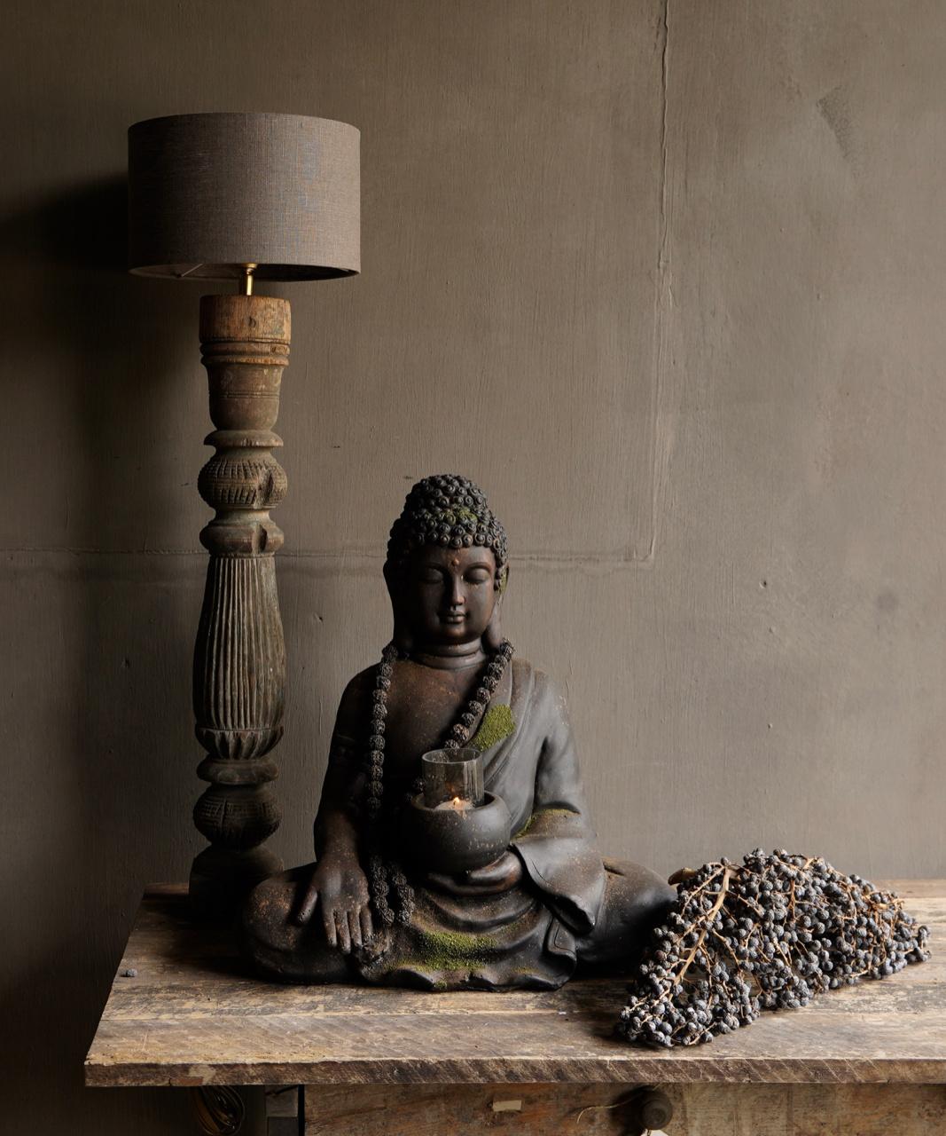 Beautiful Old Wooden Baluster lamp base-1