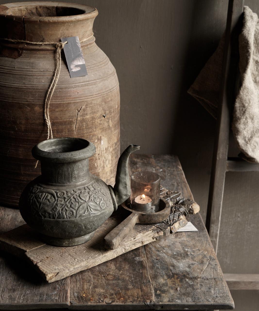 Osmanischer antiker Krug aus Zinn / Kupfer-1