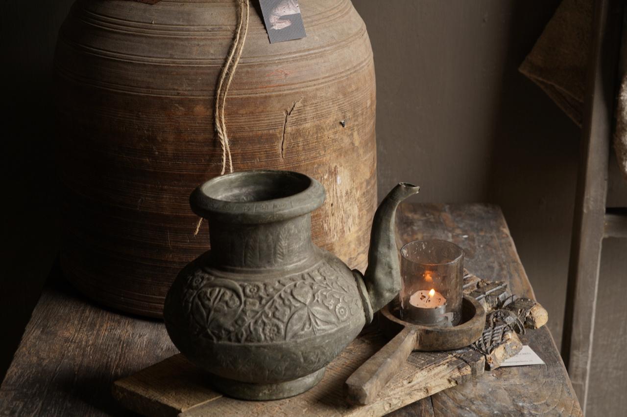 Osmanischer antiker Krug aus Zinn / Kupfer-2
