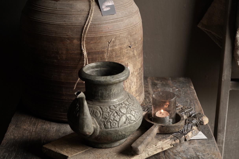 Osmanischer antiker Krug aus Zinn / Kupfer-3