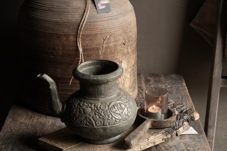 Osmanischer antiker Krug aus Zinn / Kupfer-4
