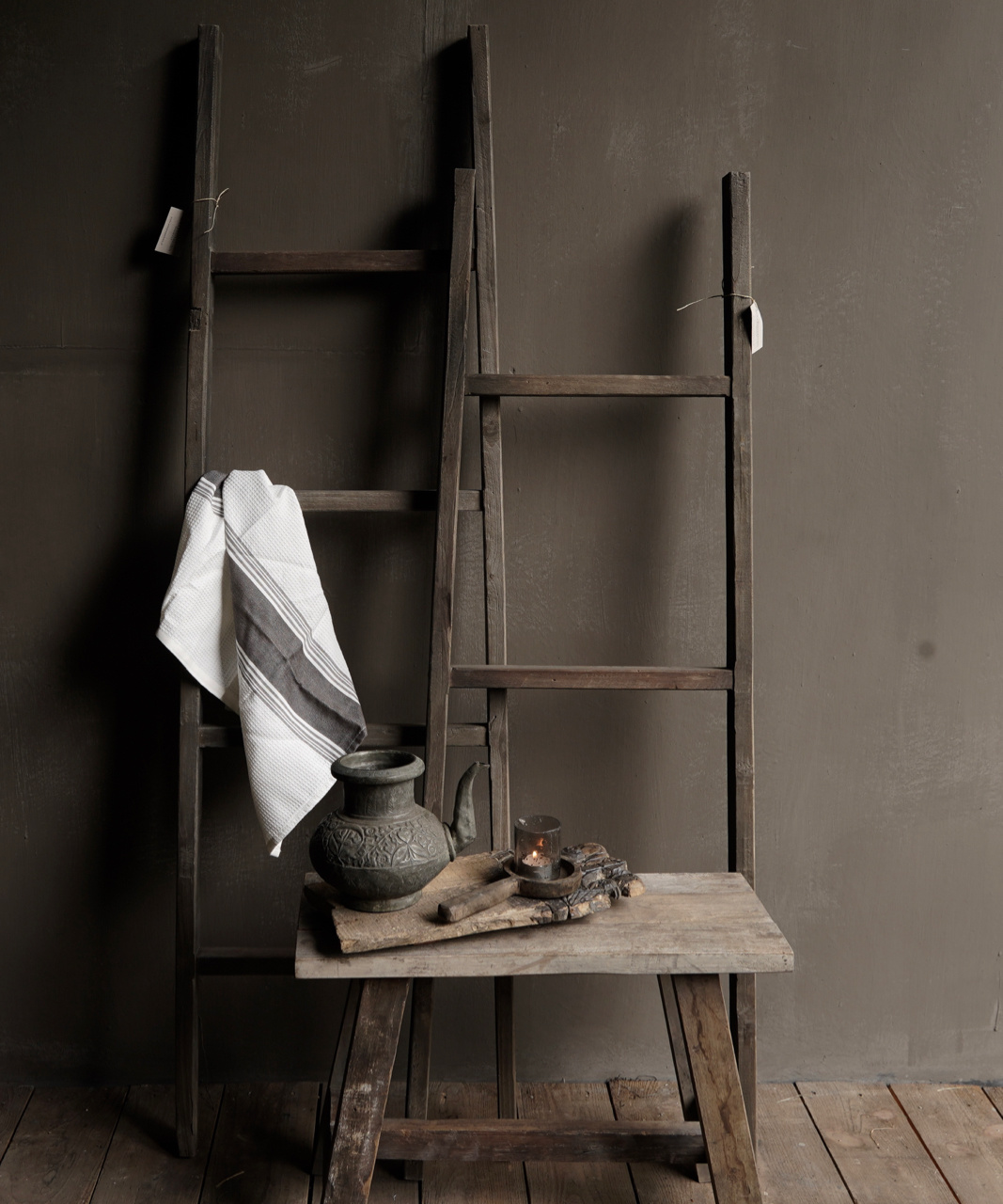 Stair / ladder made of old wood-5