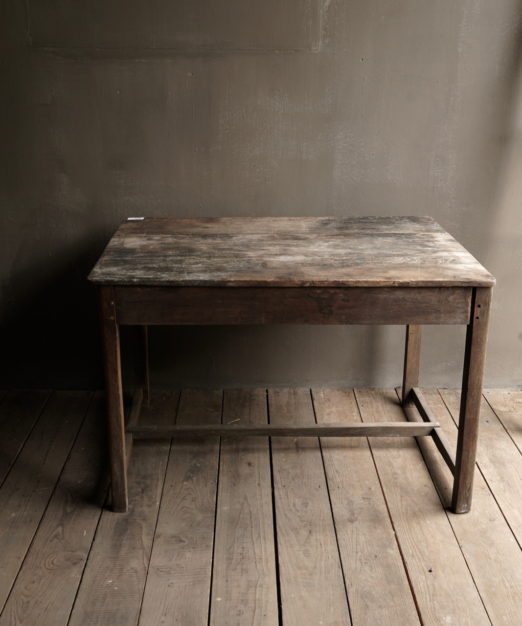 Tough Antique old wooden wall table with a drawer Aura Peeperkorn-5