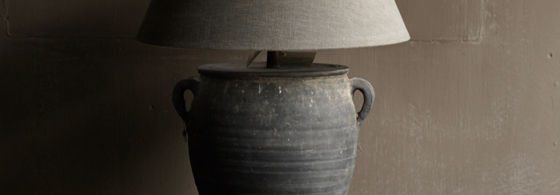 Jar lamp from old Authentic Waterpot