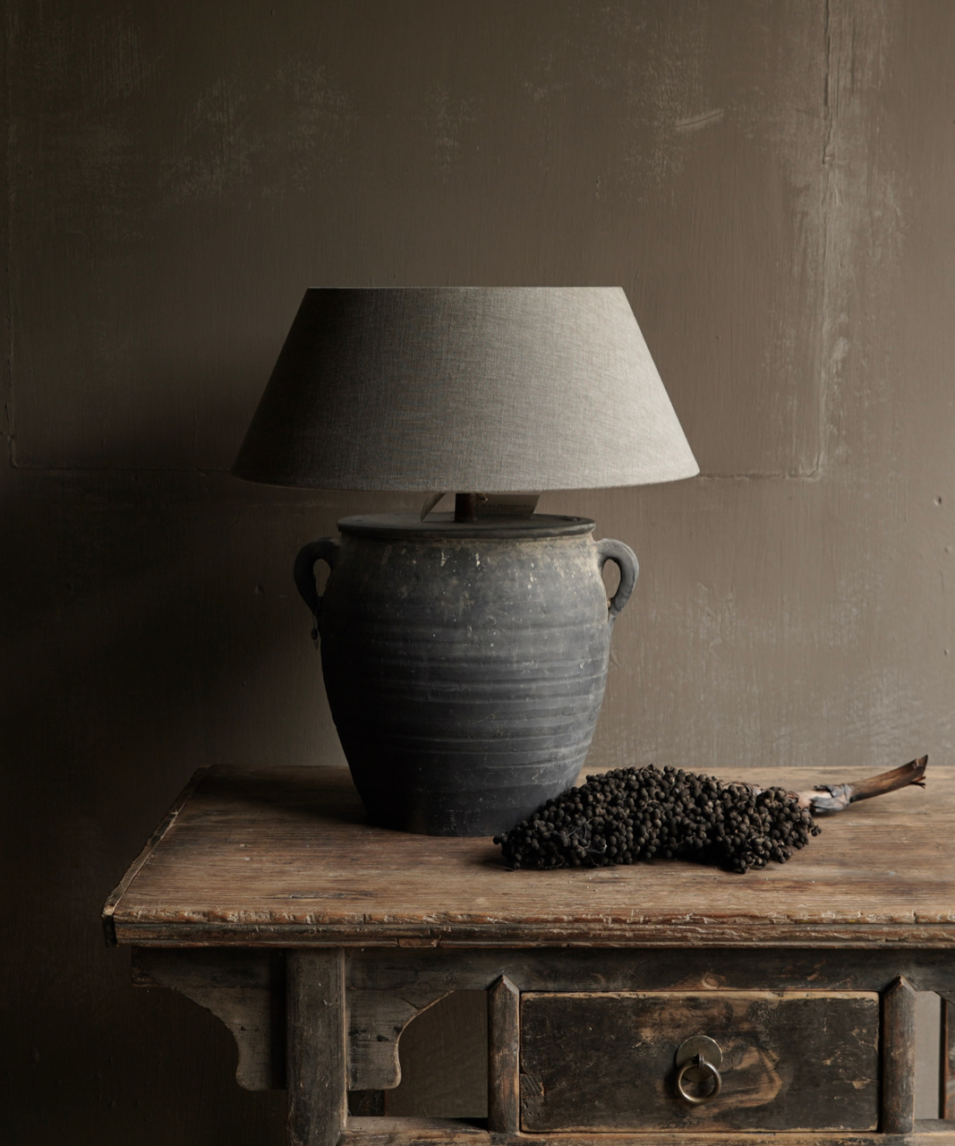 Jar lamp from old Authentic Waterpot-1