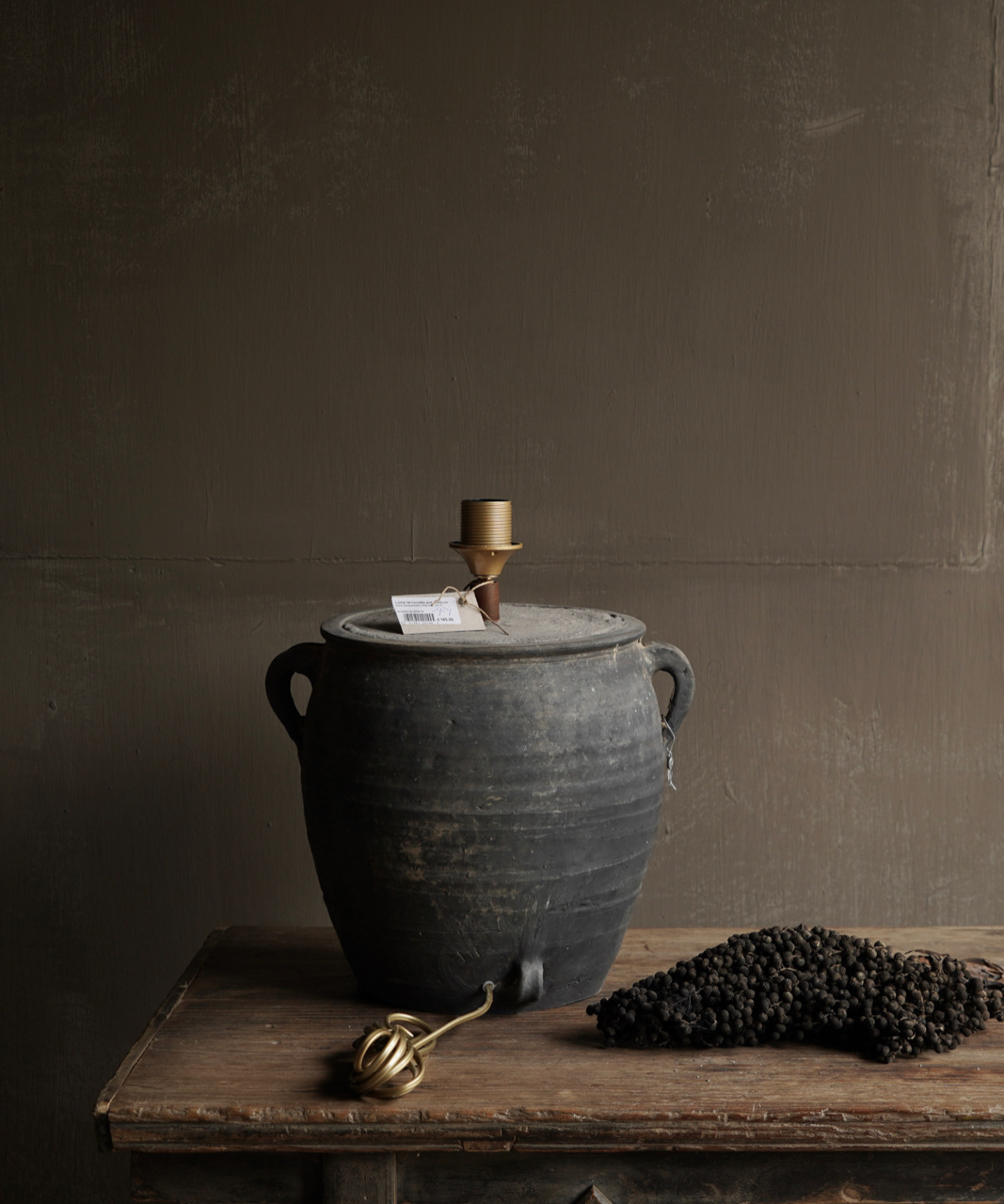 Jar lamp from old Authentic Waterpot-2