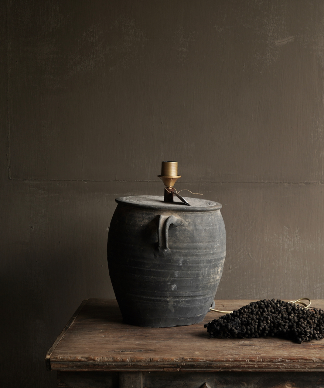 Jar lamp from old Authentic Waterpot-5
