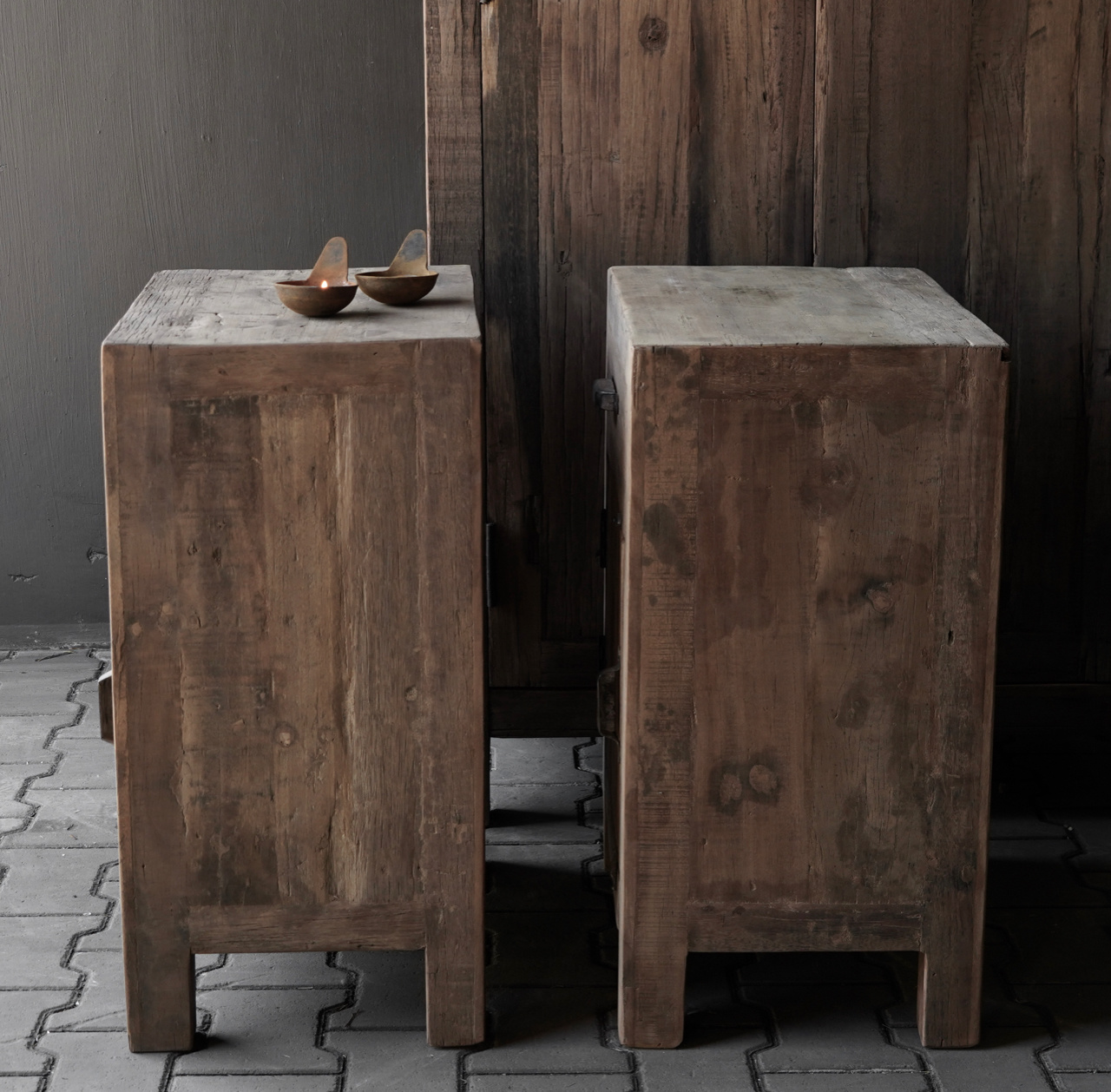 Robust old wooden cabinet-3