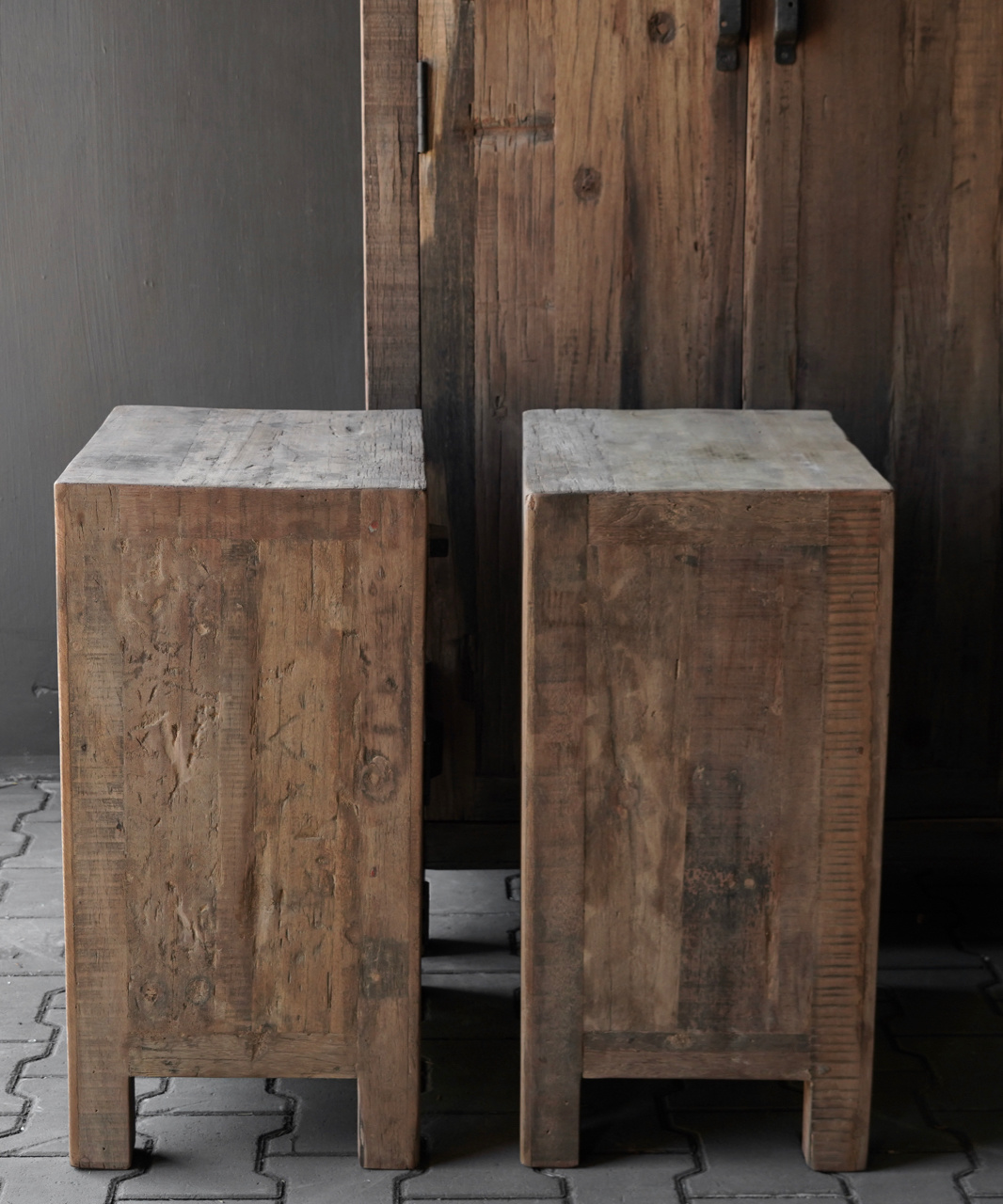 Robust old wooden cabinet-6