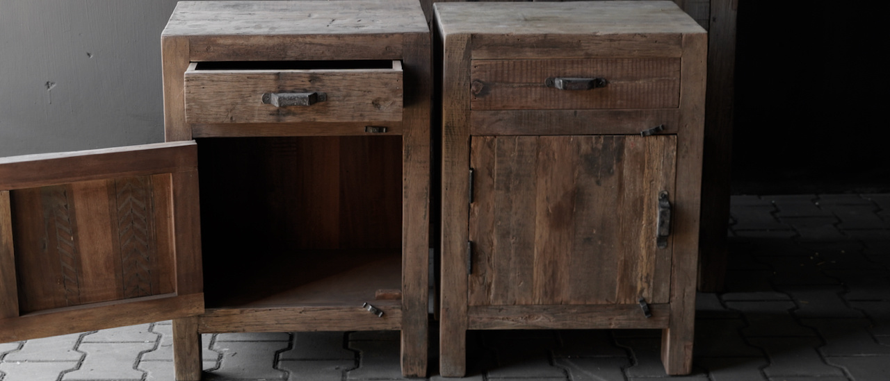 Robust old wooden cabinet-8