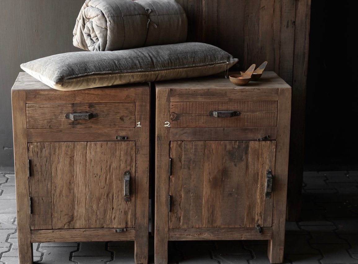 Robust old wooden cabinet-2