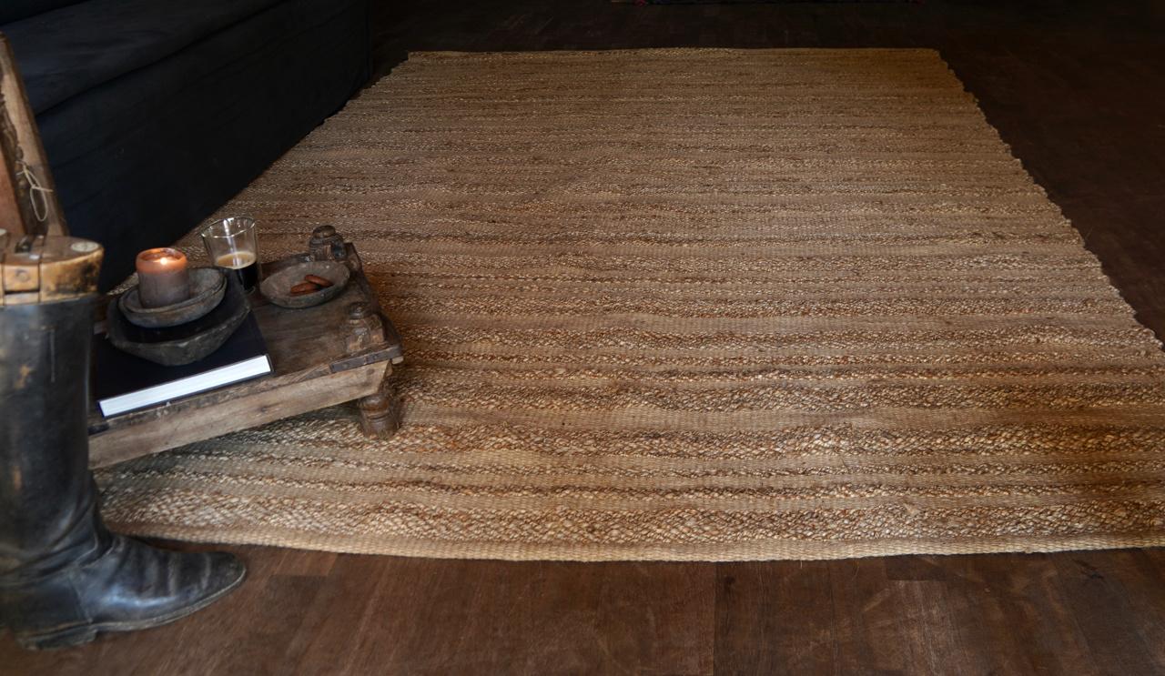 Robuster natürlicher Juteteppich / Teppich-2
