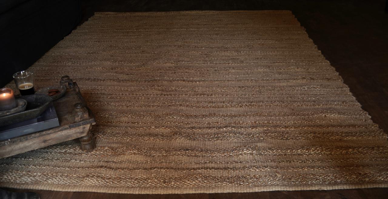 Robuster natürlicher Juteteppich / Teppich-5