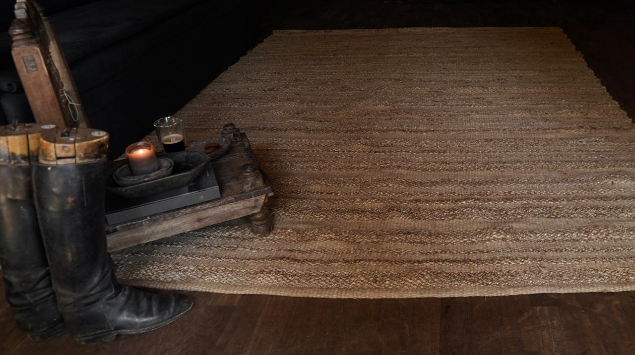 Robuster natürlicher Juteteppich / Teppich-7
