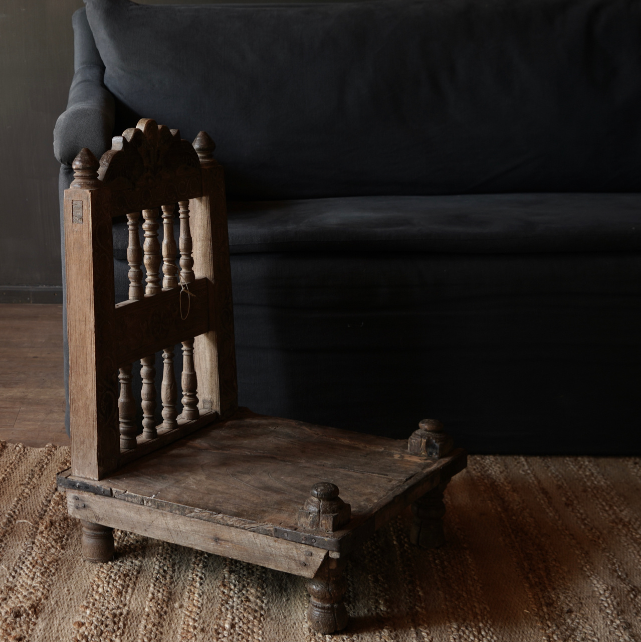 Authentic old Unique low chair-3