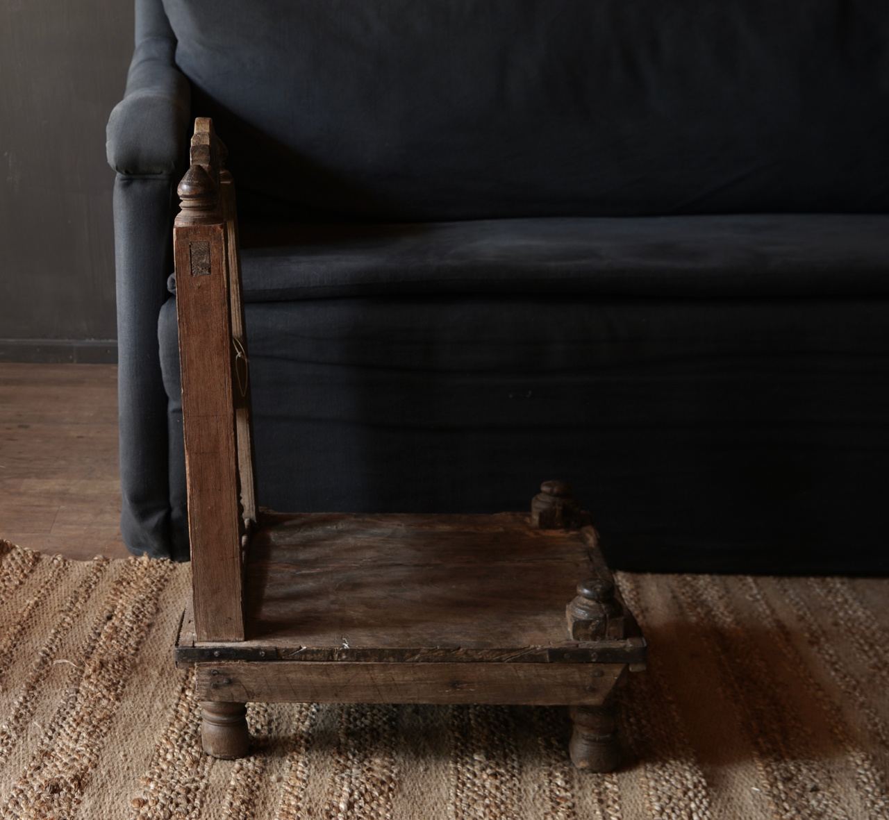Authentic old Unique low chair-5