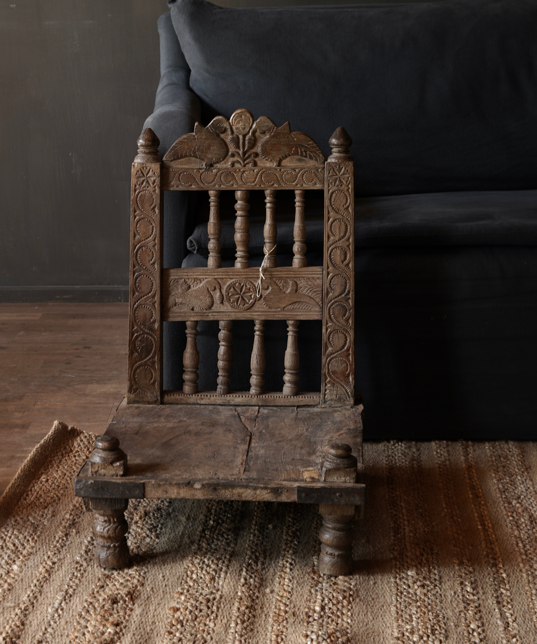 Authentic old Unique low chair-8