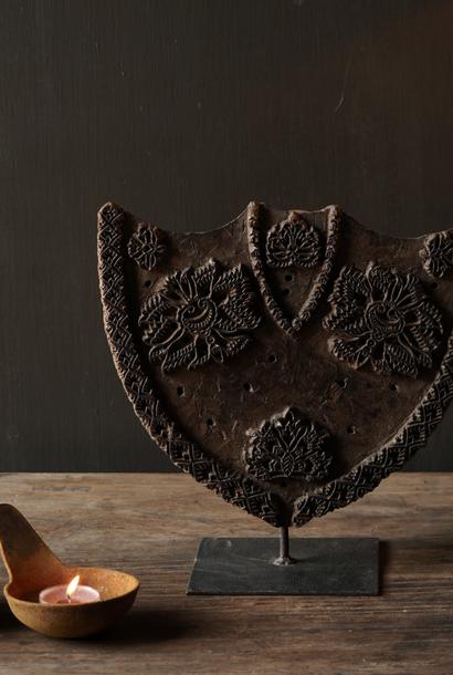 Batikstempel aus Holz auf Eisenbasis XL