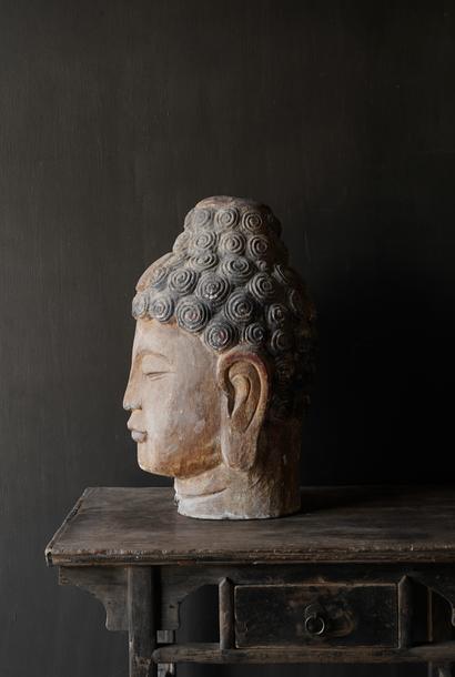 Uniek oude Houten Buddha  XL