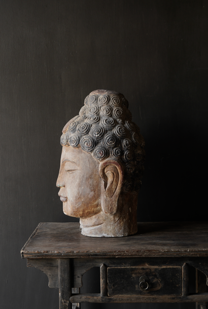 Unique old Wooden Buddha XL