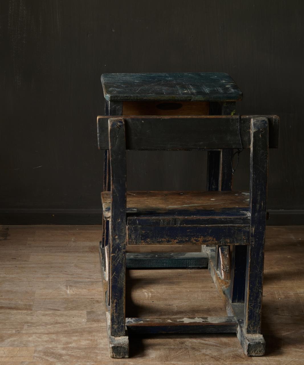 Old Indian school desk-3