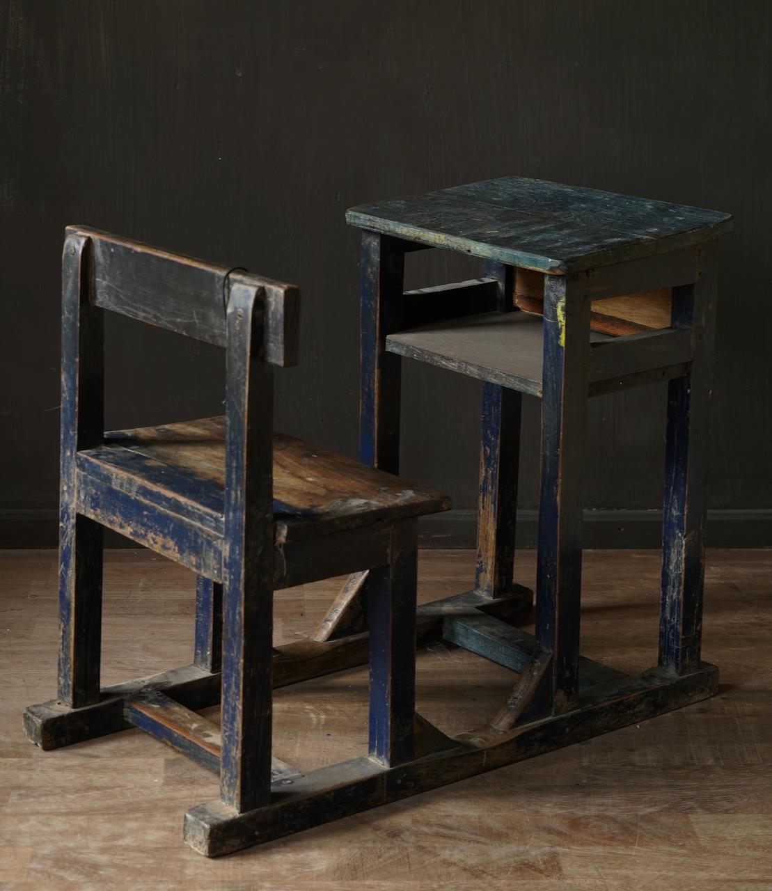 Old Indian school desk-4